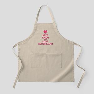 Keep calm and love Switzerland Apron