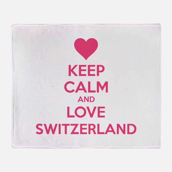 Keep calm and love Switzerland Throw Blanket