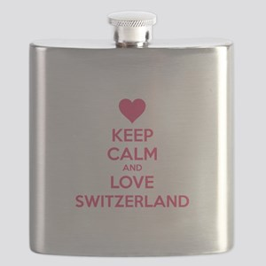 Keep calm and love Switzerland Flask