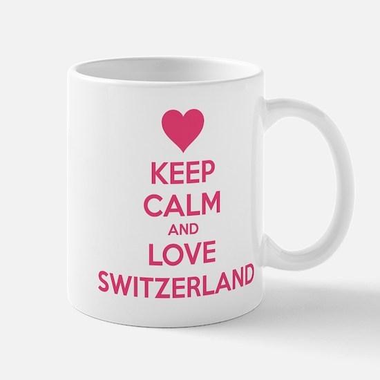 Keep calm and love Switzerland Mug