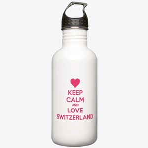 Keep calm and love Switzerland Stainless Water Bot