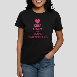 Keep calm and love Switzerland Women's Dark T-Shir