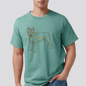 Pit Bull Personazlied by Mens Comfort Colors Shirt