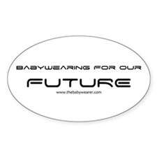 Babywearing for our Future Sticker (Oval)