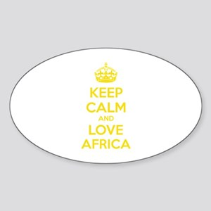 Keep calm and love Africa Sticker (Oval)