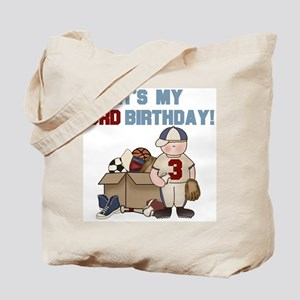 I Love Sports 3rd Birthday Tote Bag