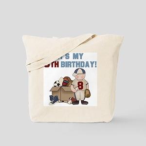 I Love Sports 8th Birthday Tote Bag