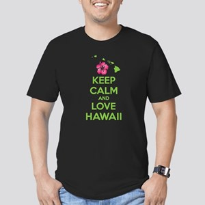 Keep calm and love Hawaii Men's Fitted T-Shirt (da