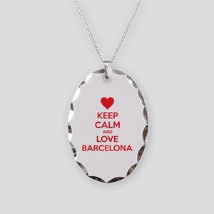 Keep calm and love Barcelona Necklace Oval Charm
