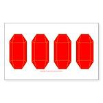 GemRD000GT Sticker (Rectangle 10 pk)
