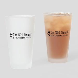 Drunk Potholes Drinking Glass