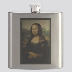 Mona Lisa by Leonardo Da Vinci Flask