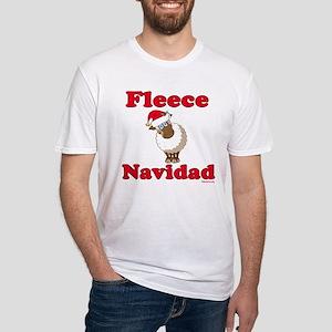 Fleece Navidad Fitted T-Shirt