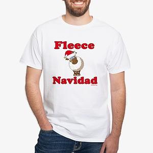 Fleece Navidad White T-Shirt