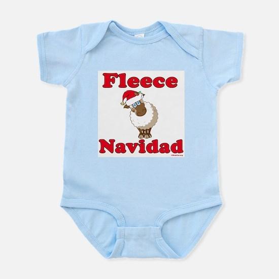 Fleece Navidad Infant Bodysuit