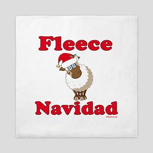 Fleece Navidad Queen Duvet