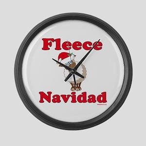 Fleece Navidad Large Wall Clock