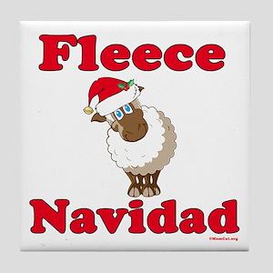 Fleece Navidad Tile Coaster