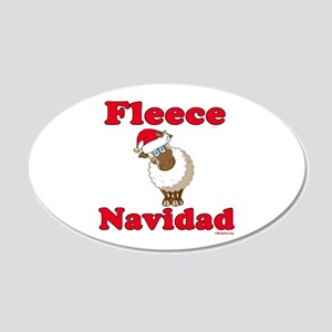 Fleece Navidad 20x12 Oval Wall Decal