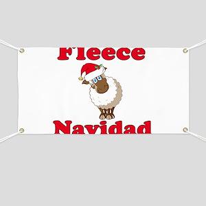 Fleece Navidad Banner