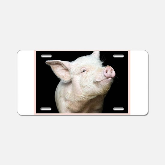 Cutest Pig Aluminum License Plate