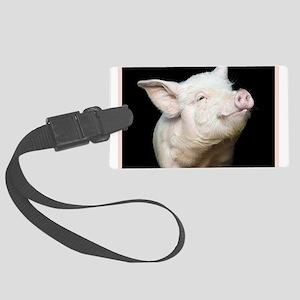 Cutest Pig Large Luggage Tag