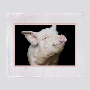 Cutest Pig Throw Blanket