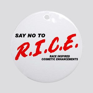 Say No To Rice Ornament (Round)