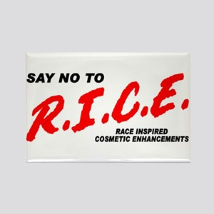 Say No To Rice Rectangle Magnet