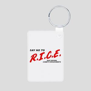 Say No To Rice Aluminum Photo Keychain