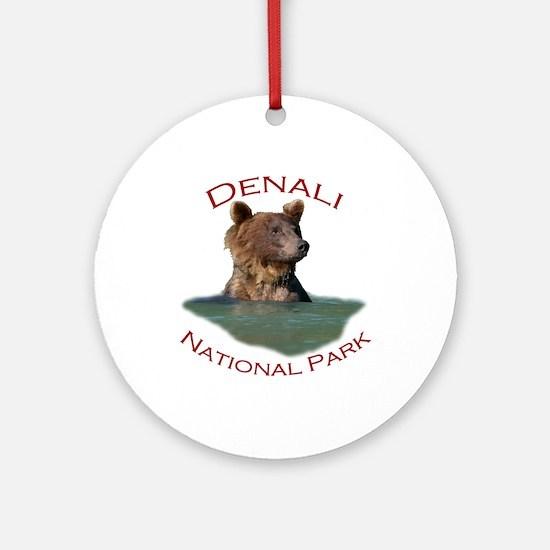 Denali National Park...Grizzly Bear Ornament (Roun