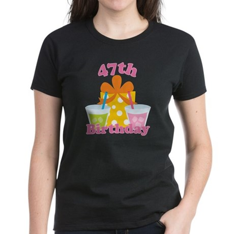 47th Birthday Party Gift Women's Dark T-Shirt