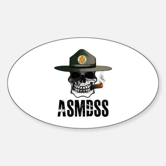 ASMDSS Skull Logo Sticker (Oval)
