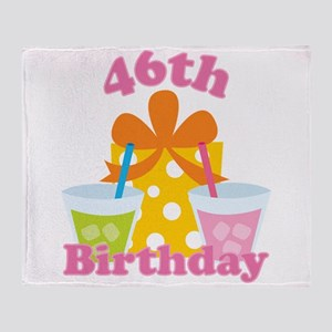 46th Birthday Party Throw Blanket