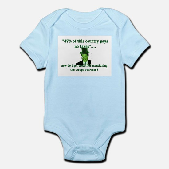 Romney and the 47% (vertical) Infant Bodysuit