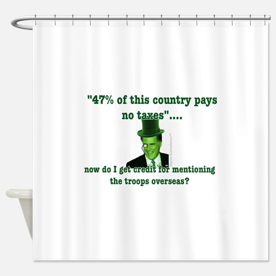Romney and the 47% (vertical) Shower Curtain