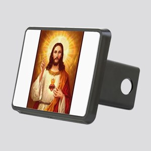 Sacred Heart of Jesus Rectangular Hitch Cover