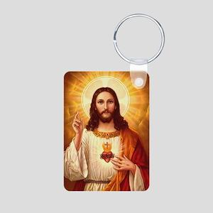 Sacred Heart of Jesus Aluminum Photo Keychain