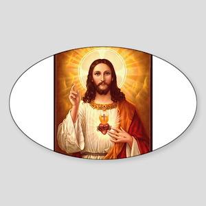 Sacred Heart of Jesus Sticker (Oval)