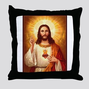 Sacred Heart of Jesus Throw Pillow