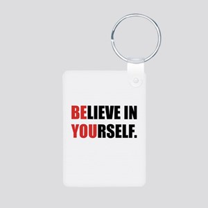 Believe in Yourself Aluminum Photo Keychain