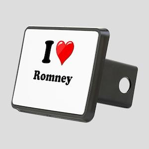 I Heart Love Romney Rectangular Hitch Cover