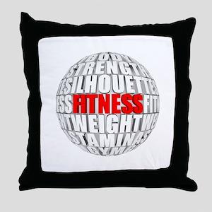 Fitness Globe Throw Pillow