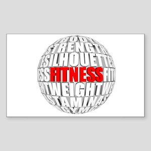 Fitness Globe Sticker (Rectangle)