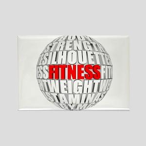 Fitness Globe Rectangle Magnet