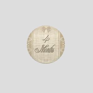Vintage Lace Milestone 4 Months Mini Button