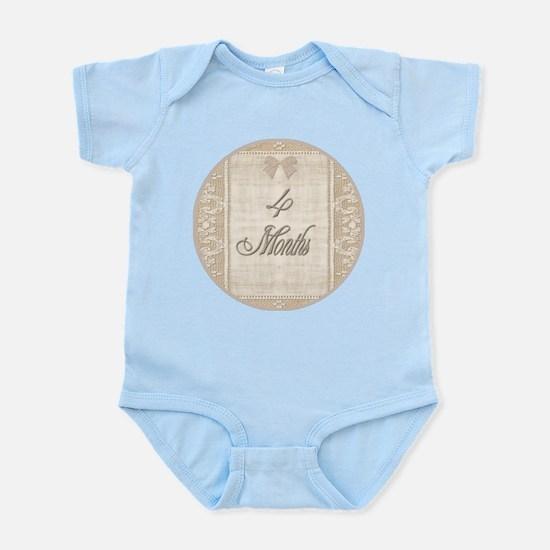 Vintage Lace Milestone 4 Months Infant Bodysuit