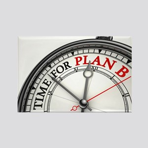 Time For Plan B! Rectangle Magnet