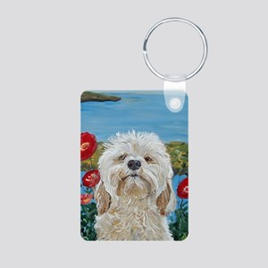 """Labradoodle"" Aluminum Photo Keychain"