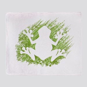 Tree Frog Throw Blanket